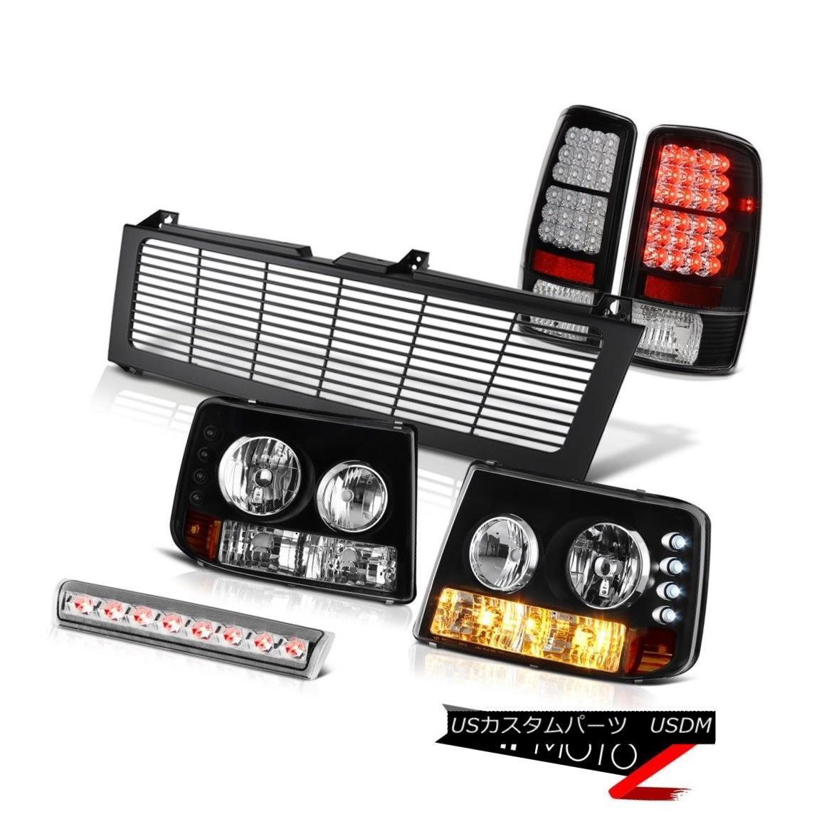 テールライト 04 05 06 Suburban 5.3L Signal Headlight Brake LED Tail Lights Third Cargo Grille 04 05 06郊外5.3LシグナルヘッドライトブレーキLEDテールライト第3カーゴグリル
