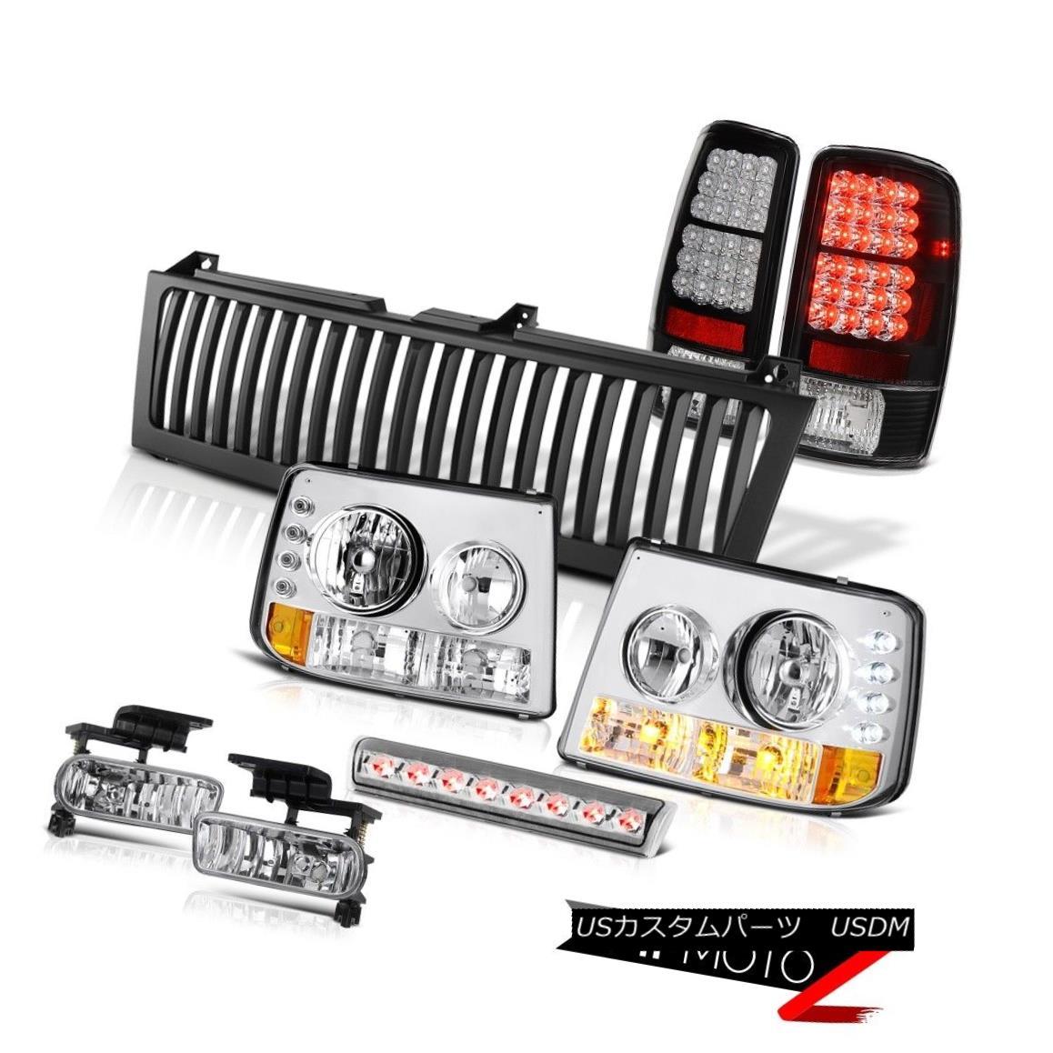 テールライト Headlamps SMD Brake Tail Lights Foglights High LED Black 2000-06 Suburban Z71 ヘッドランプSMDブレーキテールライトフォグライトハイLEDブラック2000-06郊外Z71