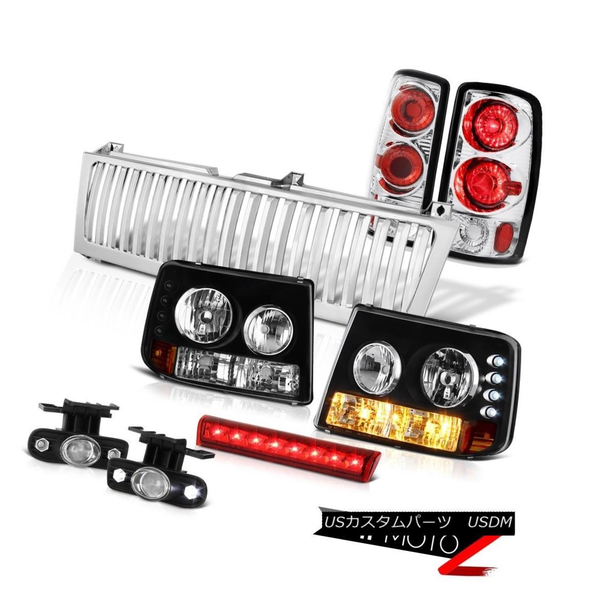 テールライト 2000-06 Chevy Tahoe Headlights Rear Tail Lamps Euro Fog High Stop LED Red Grille 2000-06シボレータホヘッドライトリアテールランプユーロフォグハイストップLEDレッドグリル