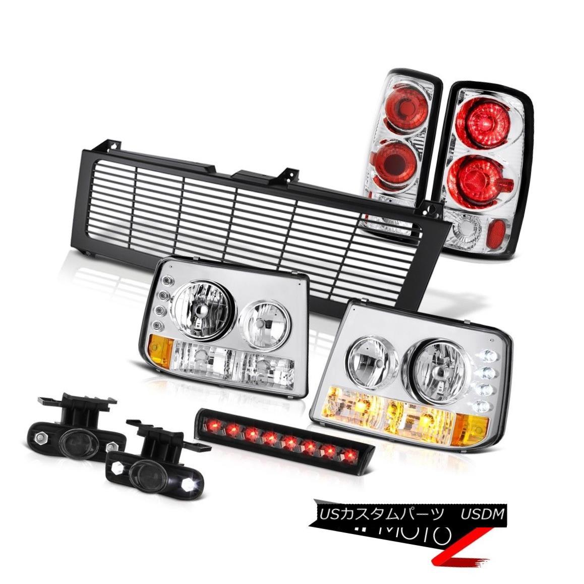 テールライト Parking Headlamps Euro Chrome Taillights Fog High Brake LED Black 2000-06 Tahoe 駐車場ヘッドランプユーロクローム曇り霧高ブレーキLED黒2000-06タホ