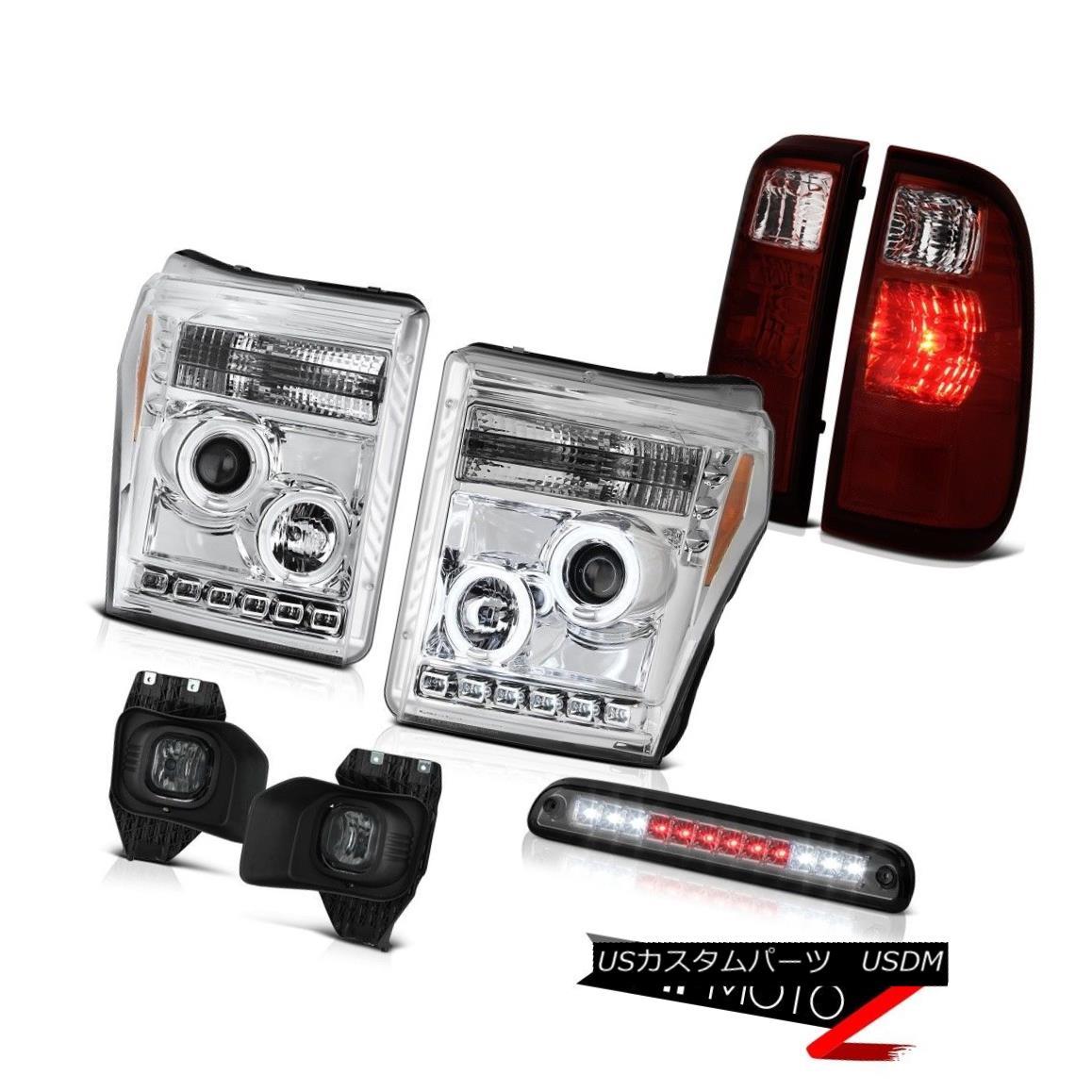 テールライト 11-16 Ford F-250 High Stop Light Fog Lights Rear Brake Lamps Headlamps Oe Style 11-16 Ford F-250ハイストップライトフォグライトリアブレーキランプヘッドランプOeスタイル
