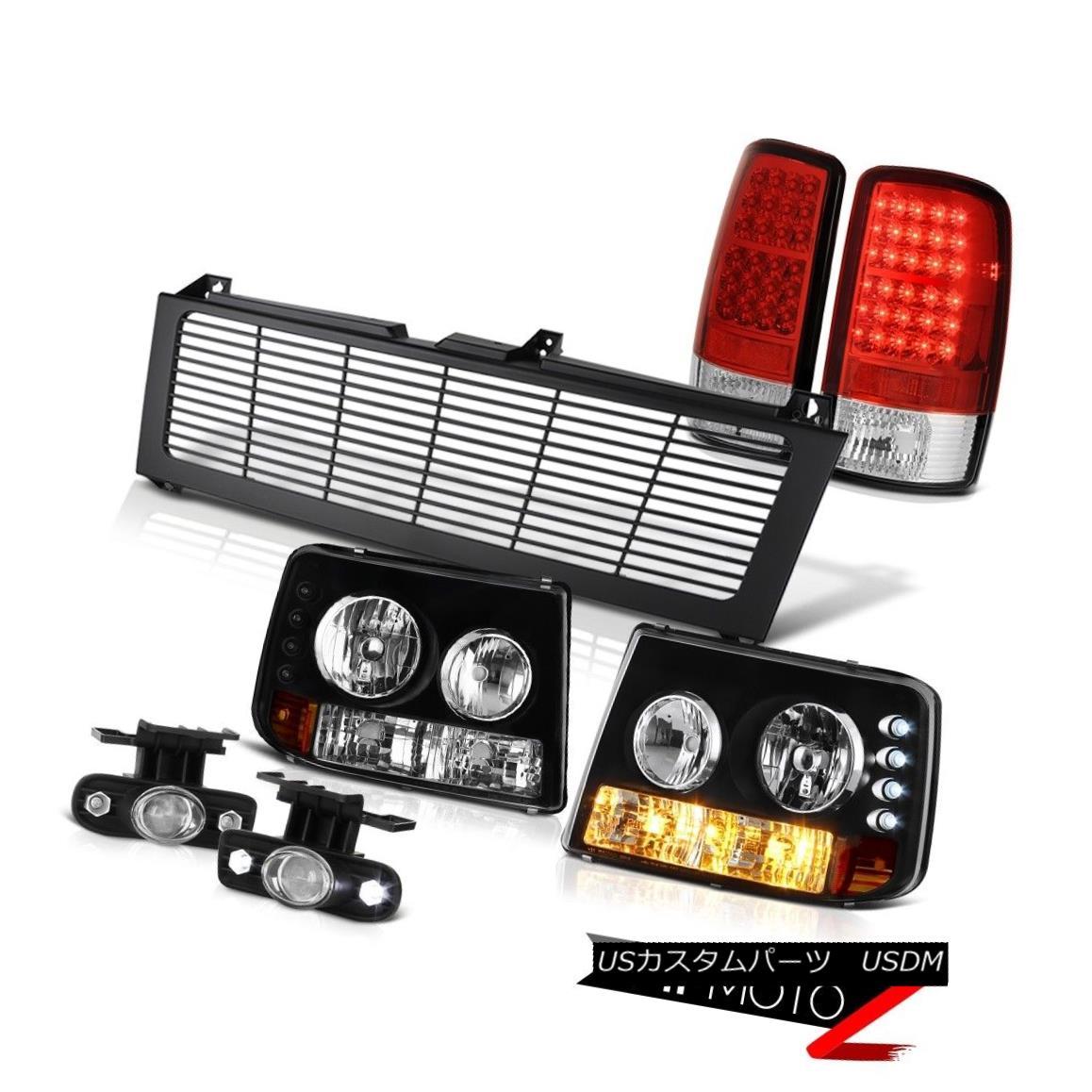テールライト 2000-06 Suburban 6.0L Bumper Headlights Red LED Tail Lights Projector Fog Grille 2000-06郊外6.0Lバンパーヘッドライト赤色LEDテールライトプロジェクターフォググリル