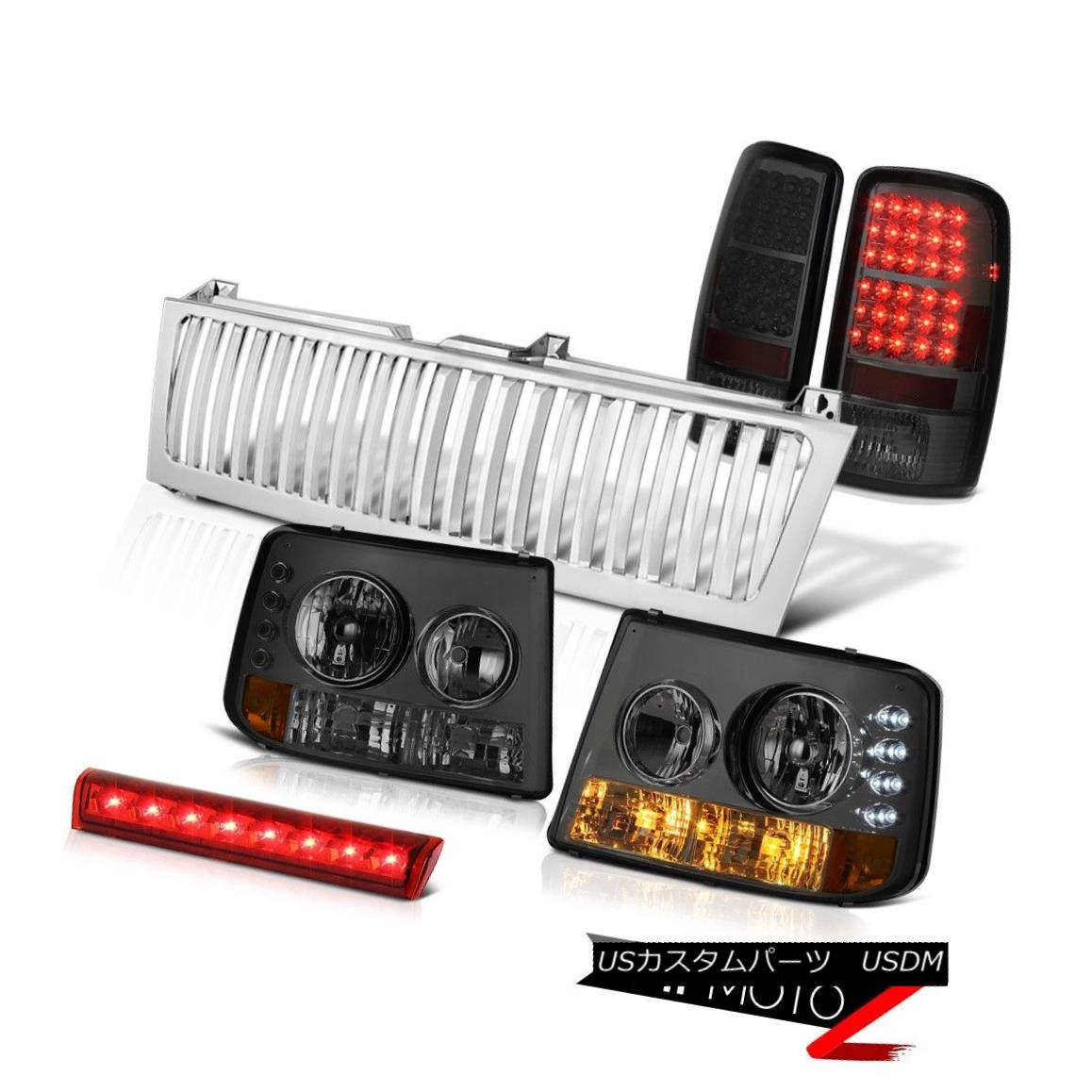 テールライト Tinted Headlight LED Brake Lights High Stop Red Chrome Grille 00-2006 Suburban 着色ヘッドライトLEDブレーキライトハイストップレッドクロームグリル00-2006郊外