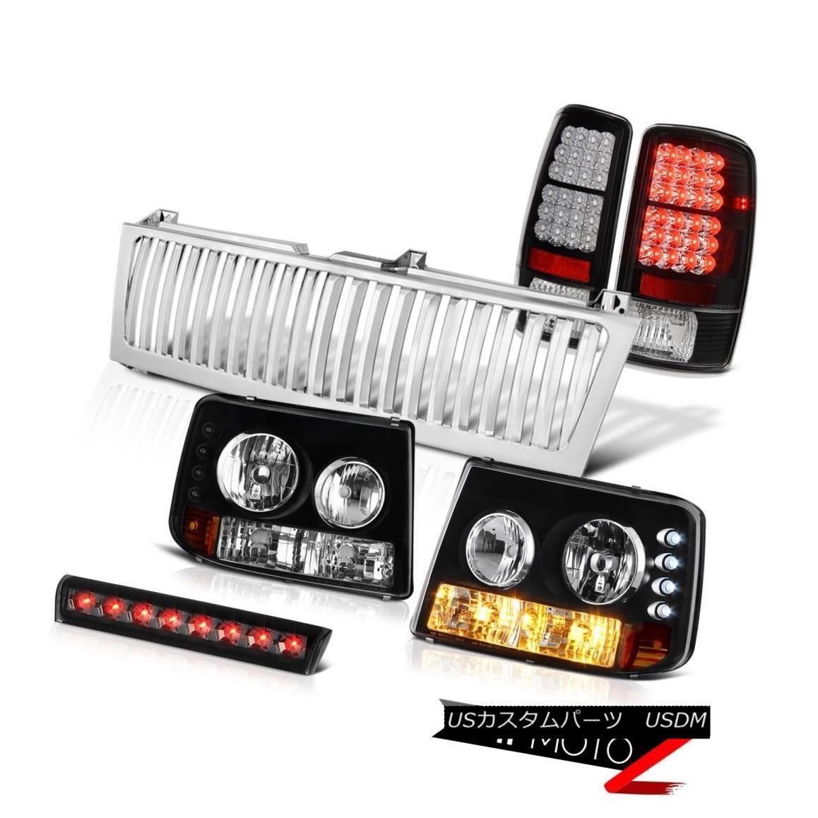 テールライト 00-06 Suburban 1500 Bumper+Headlight LED Taillamp High Stop Smoke Chrome Grille 00-06郊外1500バンパー+ヘッドライト ht LEDテールランプハイストップスモーククロームグリル