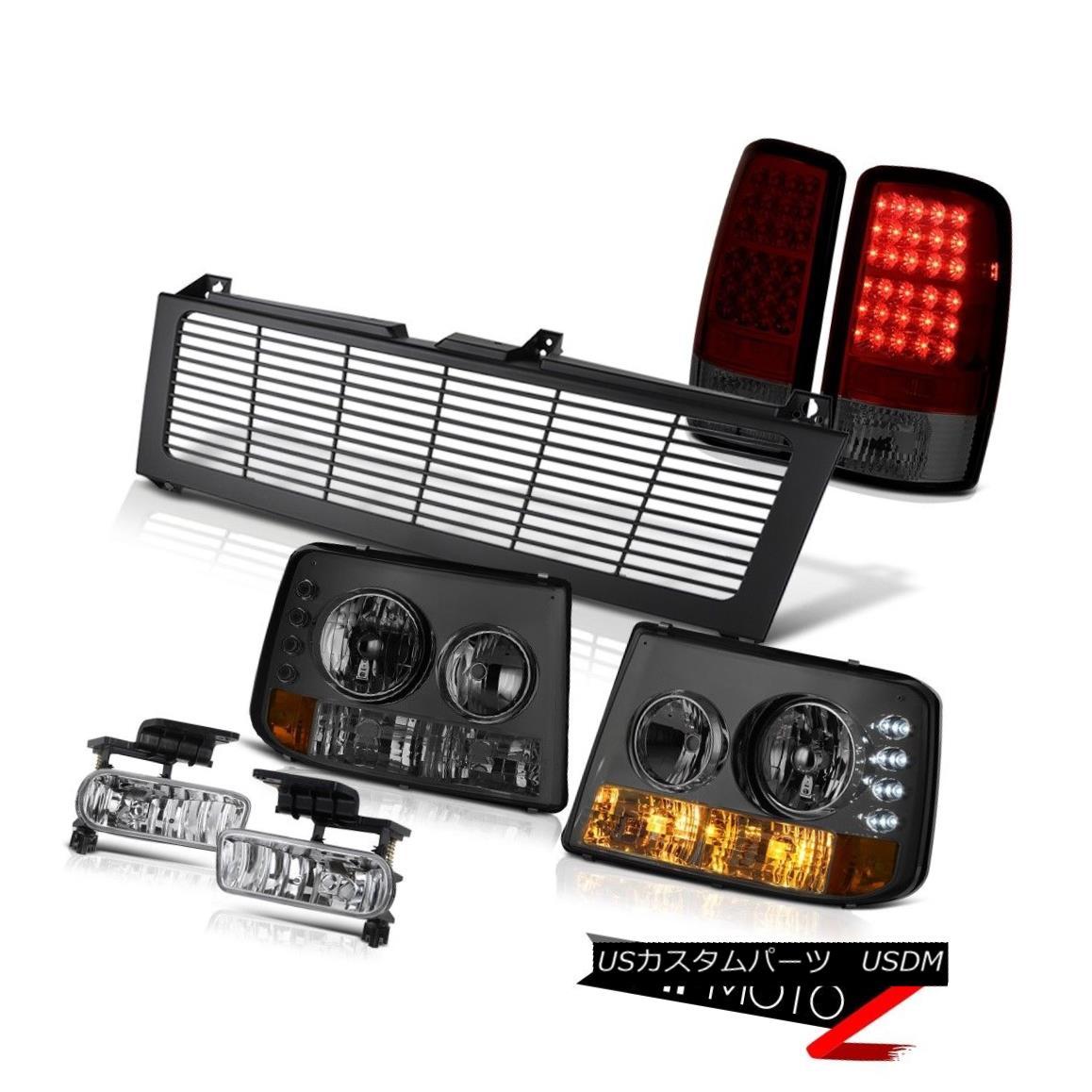 テールライト 00 01 02 03 04 05 06 Suburban Tinted Headlamp Dark Red LED Tail Light Fog Grille 00 01 02 03 04 05 06郊外着色ヘッドランプダークレッドLEDテールライトフォググリル