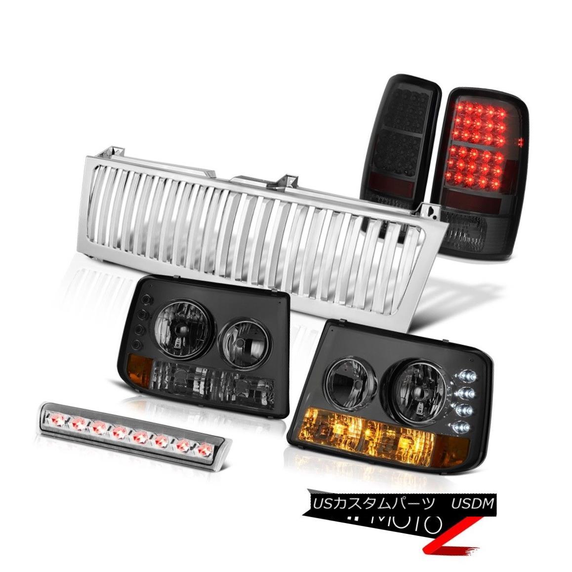 車用品 バイク用品 >> パーツ ライト ランプ テールライト 2000-2006 Suburban 2500 Bumper 最安値 人気海外一番 LED 3rd 2000-2006郊外2500バンパーヘッドライトスモークLEDテールライト第3ブレーキグリル Grille Headlights Smoke Brake Taillights