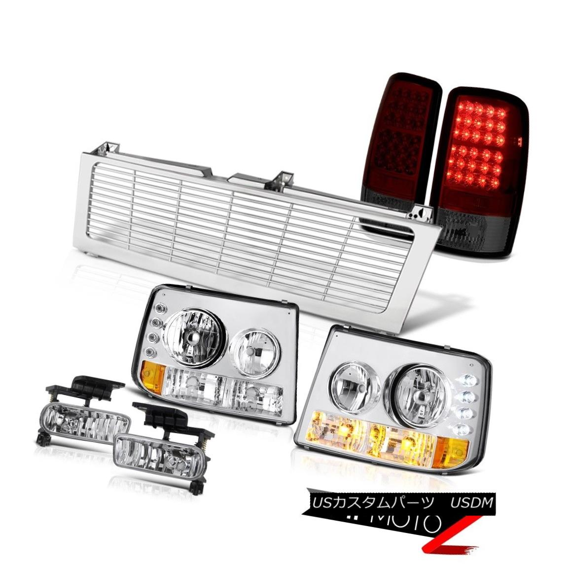 テールライト 00 01 02 03 04 05 06 Tahoe Z71 Crystal Headlight LED Taillight Chrome Fog Grille 00 01 02 03 04 05 06タホZ71クリスタルヘッドライトLEDテールライトクロームフォググリル
