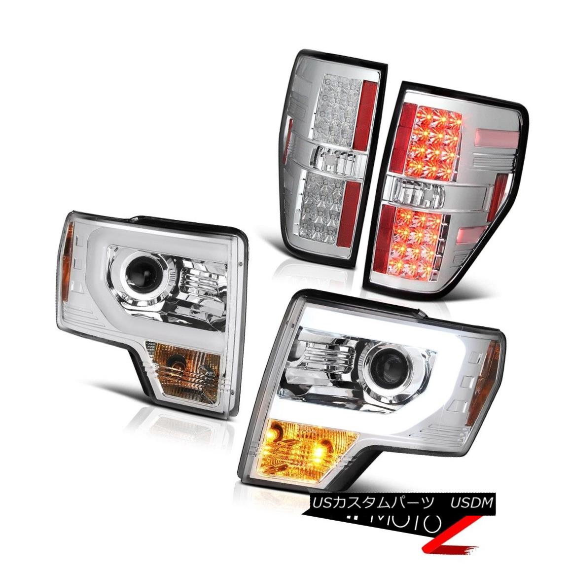 07-13 Silverado Black Headlamps Dark Smoke Taillights Tron Style LED SMD Newest