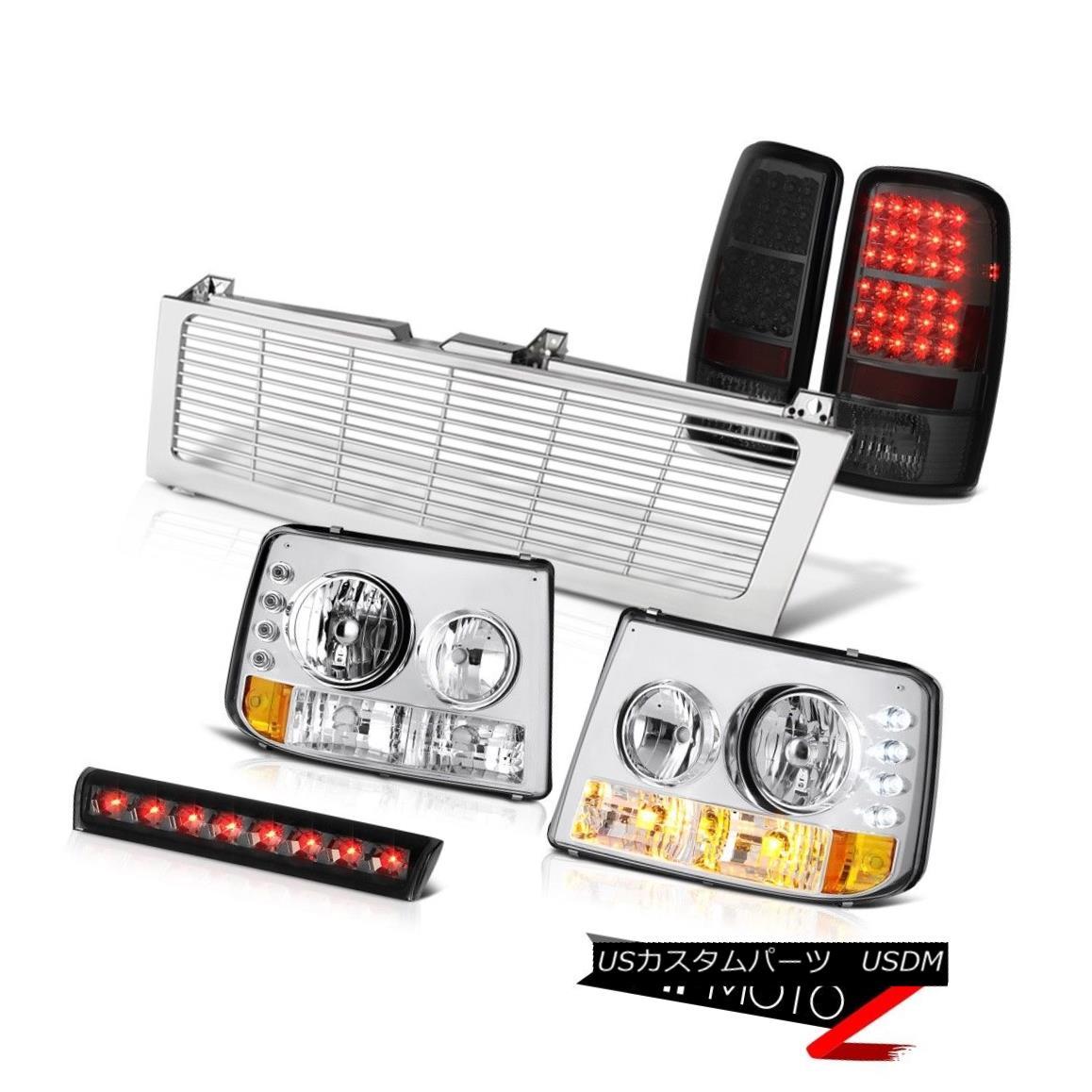 テールライト 2000-2006 Chevy Suburban Headlight L.E.D Taillamps Smoke Third Brake LED Grille 2000-2006シボレー郊外ヘッドライトL.E.DタイルランプスモークサードブレーキLEDグリル