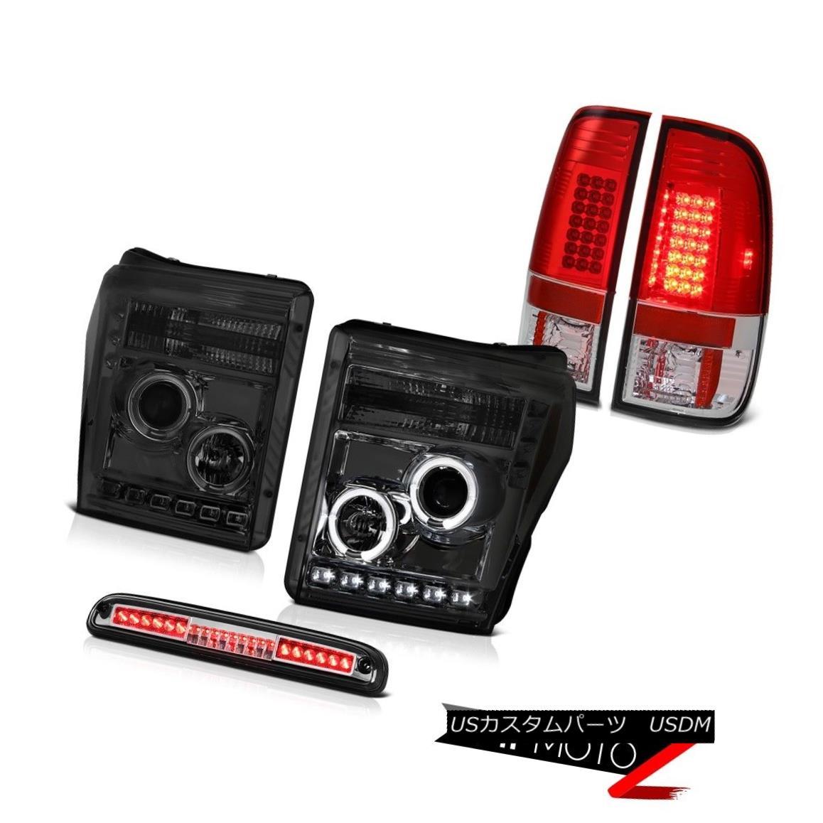 テールライト 11-16 F350 Xlt Chrome High Stop Light Wine Red Taillamps Phantom Smoke Headlamps 11-16 F350 Xltクロームハイストップライトワインレッドタイルランプファントムスモークヘッドランプ