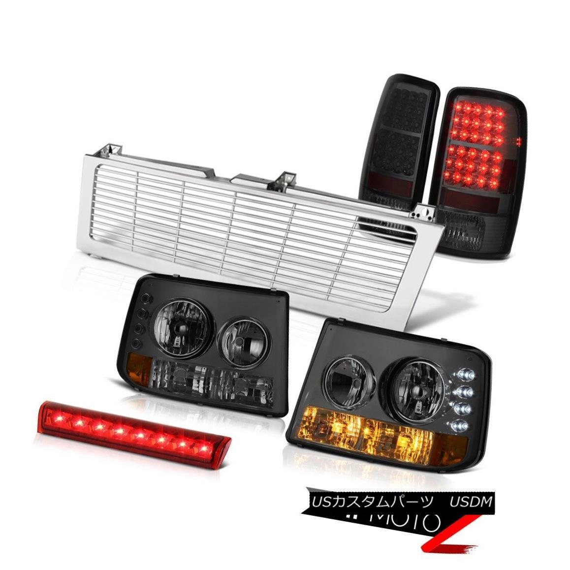 テールライト 2000-2006 Suburban Z71 Bumper Headlight Smoke Brake Light Roof LED Chrome Grille 2000-2006郊外Z71バンパーヘッドライトスモークブレーキライトルーフLEDクロームグリル