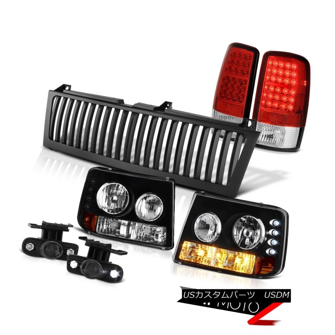 テールライト 00-06 Suburban 5.7L Parking Headlamps LED Brake Light Projector Fog Black Grille 00-06郊外5.7LパーキングヘッドランプLEDブレーキライトプロジェクターフォグブラックグリル