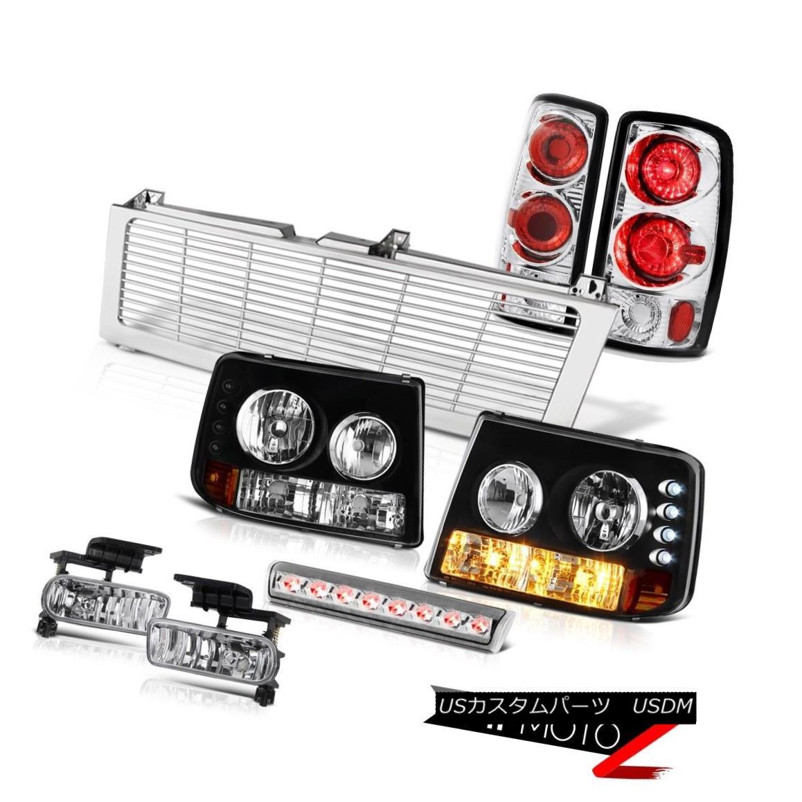 テールライト Black Headlights Rear Signal TaiLamps Fog 3rd Brake LED Grille 00-06 Tahoe 4.8L ブラックヘッドライトリアシグナルタイランプフォグ第3ブレーキLEDグリル00-06タホ4.8L