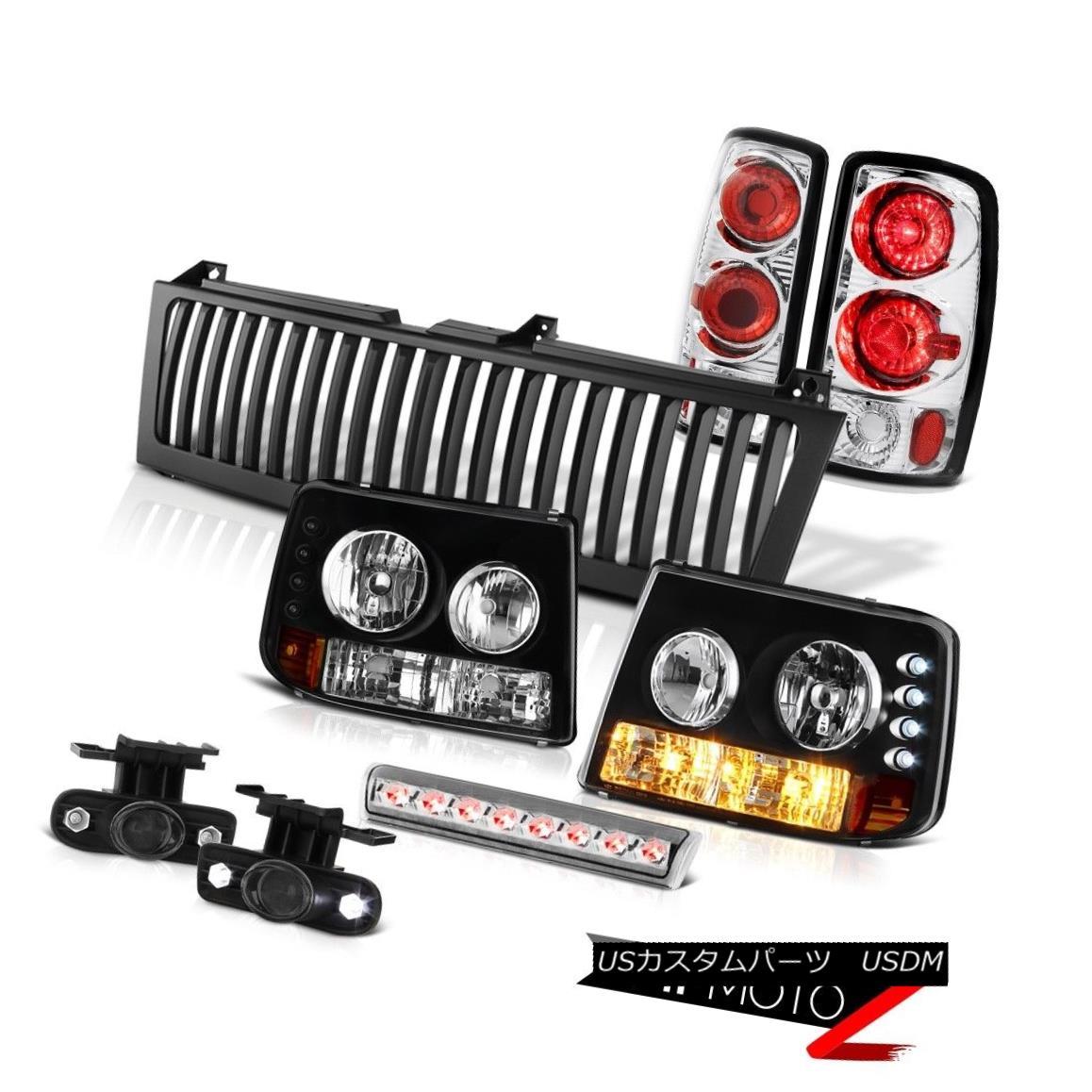 テールライト Bumper+Headlamps Rear Signal 3rd Lamps Fog High LED Black Grille 00-06 Tahoe LS バンパー+ヘッドラム psリアシグナル第3ランプフォグハイLEDブラックグリル00-06タホLS