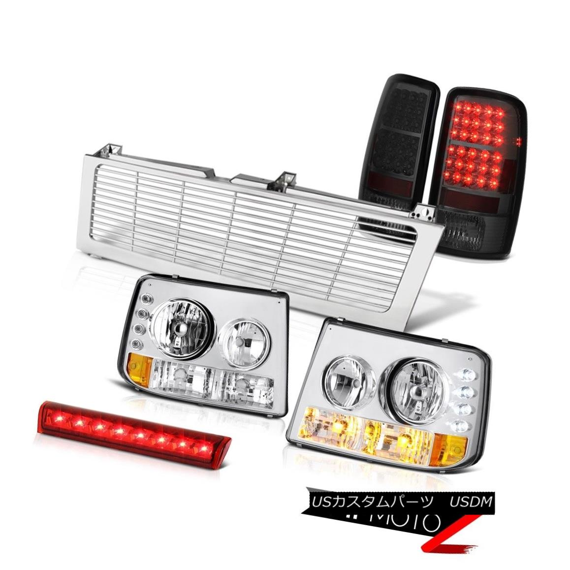 テールライト 2000-2006 Suburban Headlamps Smoke LED Taillight Red Third Brake Chrome Grille 2000-2006郊外ヘッドランプ煙LED懐中電灯赤い第3ブレーキクロームグリル