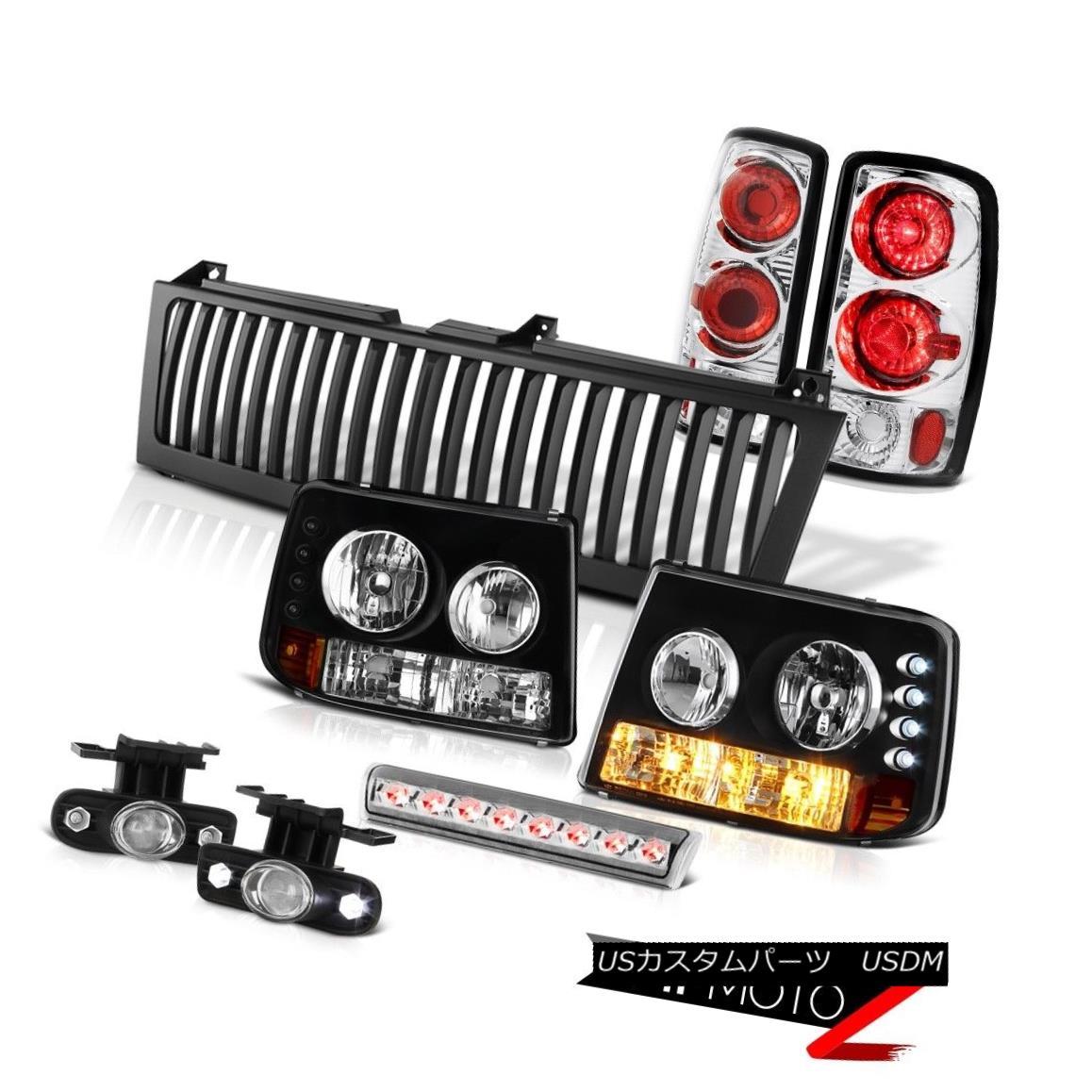 テールライト Crystal Headlights Chrome Rear TailLamps Foglamps3rd LED Black 00-06 Suburban LS クリスタルヘッドライトクロームリアTailLamps Foglamps3rd LEDブラック00-06郊外LS