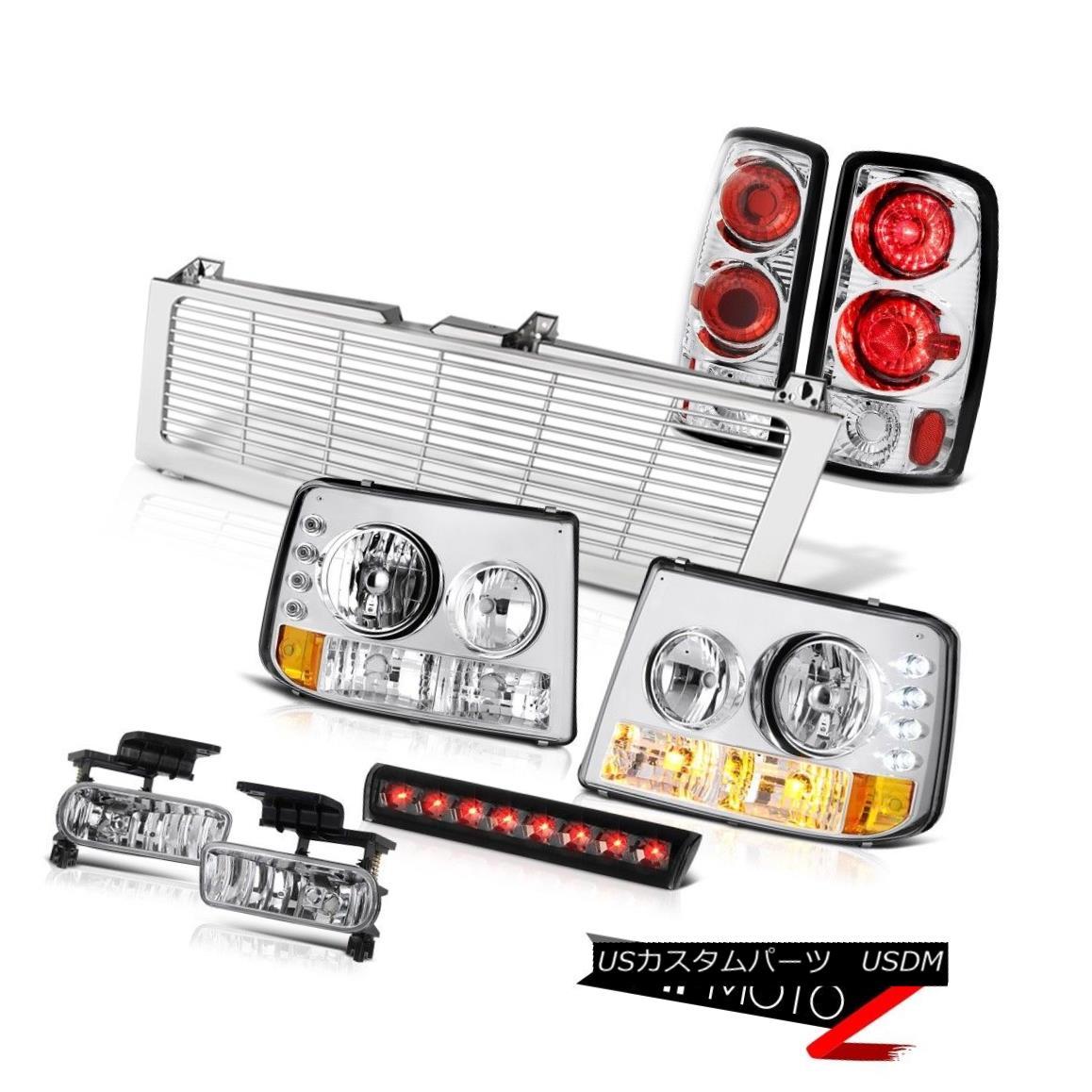テールライト Euro Headlights Rear Signal Tail Lights Clear Fog Stop LED 00-06 Chevy Suburban ユーロヘッドライトリアシグナルテールライトクリアフォグストップLED 00-06 Chevy Suburban