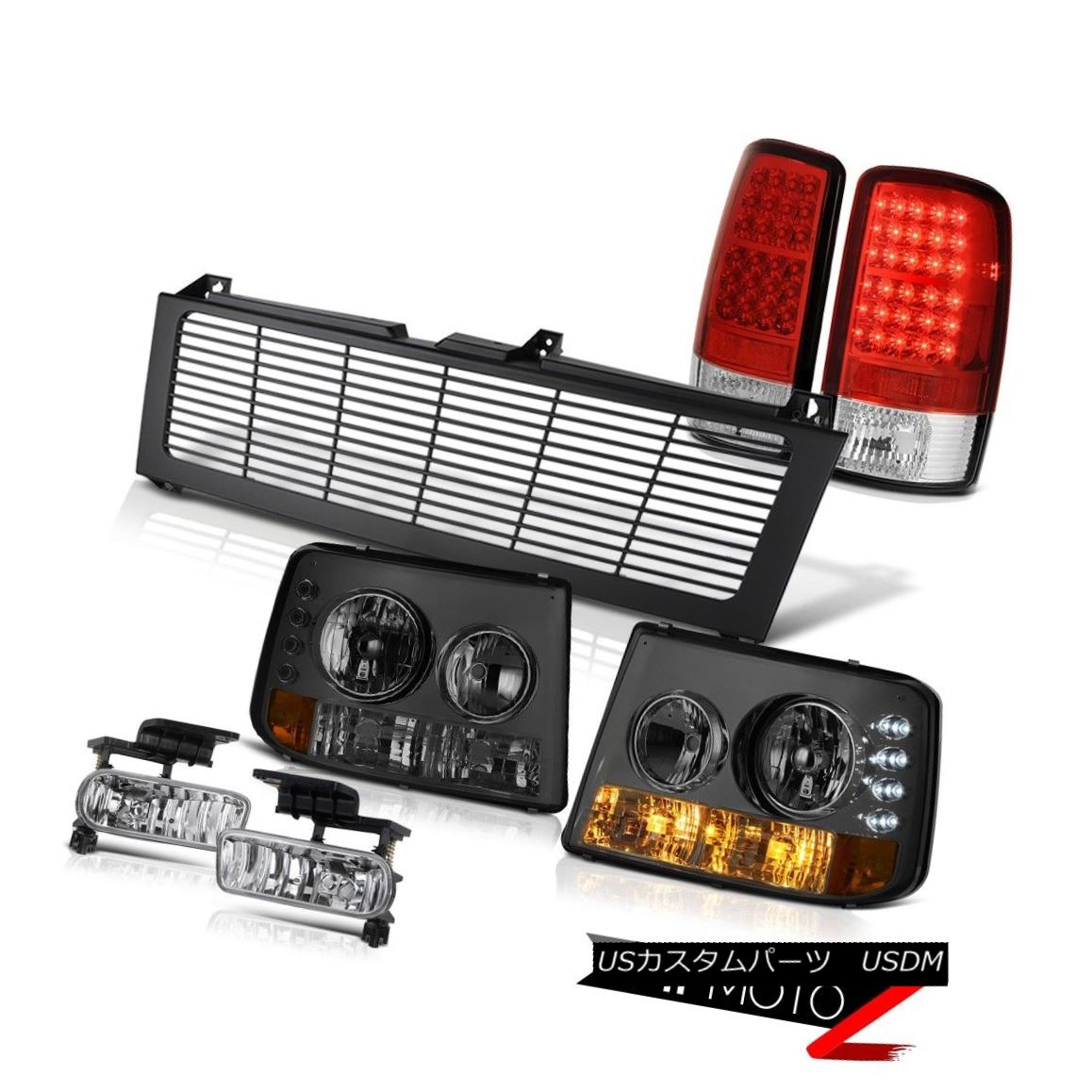テールライト 2000-2006 Suburban 8.1L Bumper Headlight L.E.D Tail Lamp Chrome Fog Black Grille 2000-2006郊外8.1LバンパーヘッドライトL.E.Dテールランプクロームフォグブラックグリル