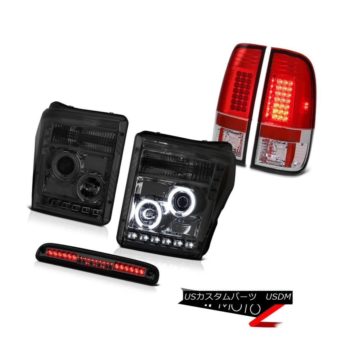 テールライト 11 12 13 14 15 16 F250 6.2L Third Brake Lamp Taillamps Projector Headlights SMD 11 12 13 14 15 16 F250 6.2L第3ブレーキランプタイヤランププロジェクターヘッドライトSMD