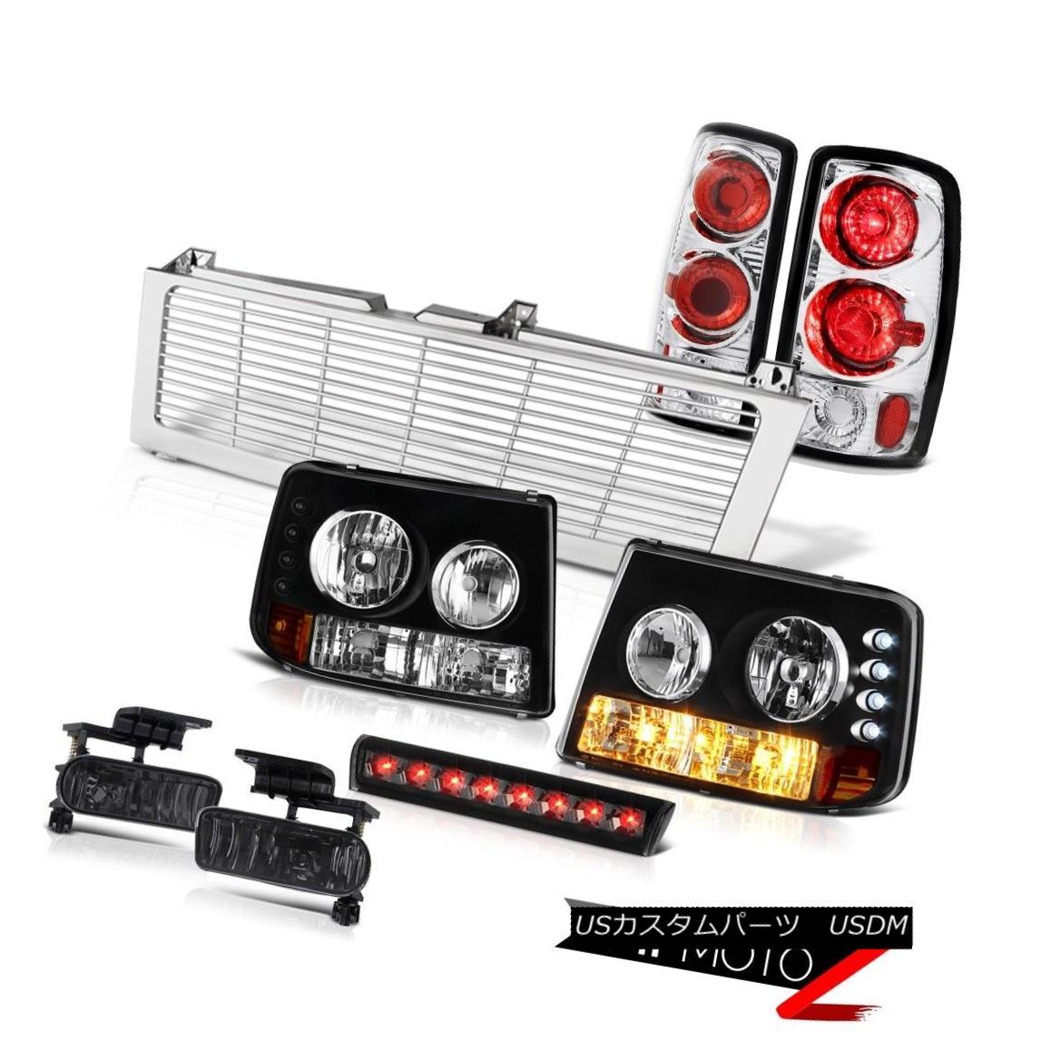 テールライト Crystal Headlights Euro Taillamps Fog 3rd Brake LED Chrome 00-06 Suburban 2500 クリスタルヘッドライトユーロタイルランプフォグ3rdブレーキLED Chrome 00-06郊外2500
