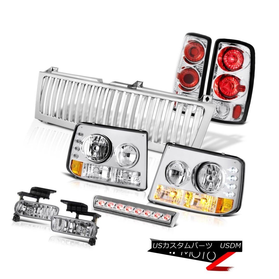テールライト Headlights Bumper Rear Tail Lamps Fog 3rd Brake LED Grille 00-06 Suburban 2500 ヘッドライトバンパーリアテールランプフォグ第3ブレーキLEDグリル00-06郊外2500