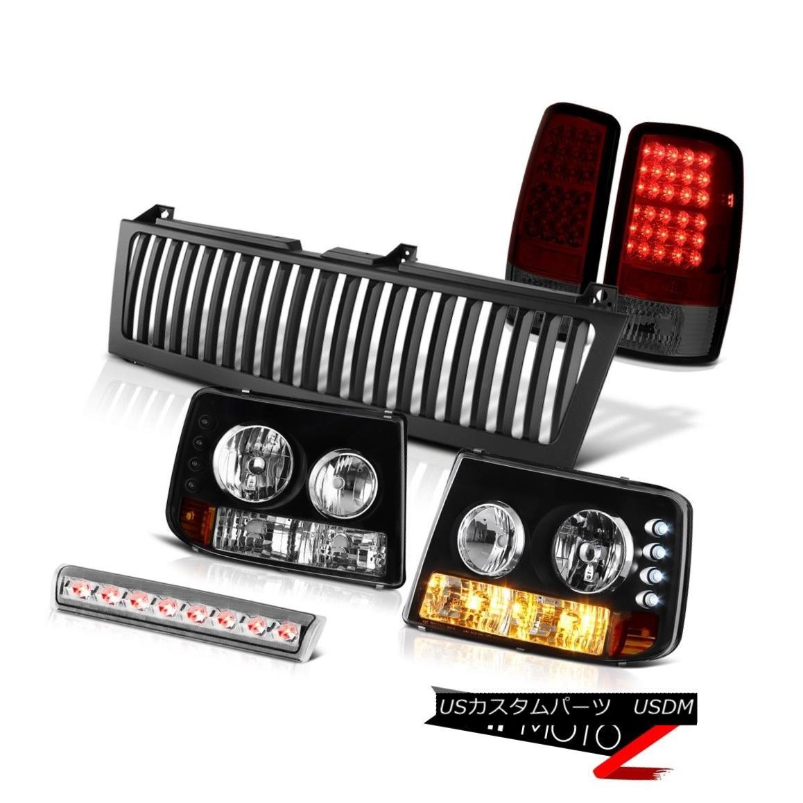 テールライト Bumper+Headlights LED Tail Lights Third Brake Black Grille 00-06 Suburban 5.7 バンパー+ヘッドリッグ hts LEDテールライトサードブレーキブラックグリル00-06郊外5.7