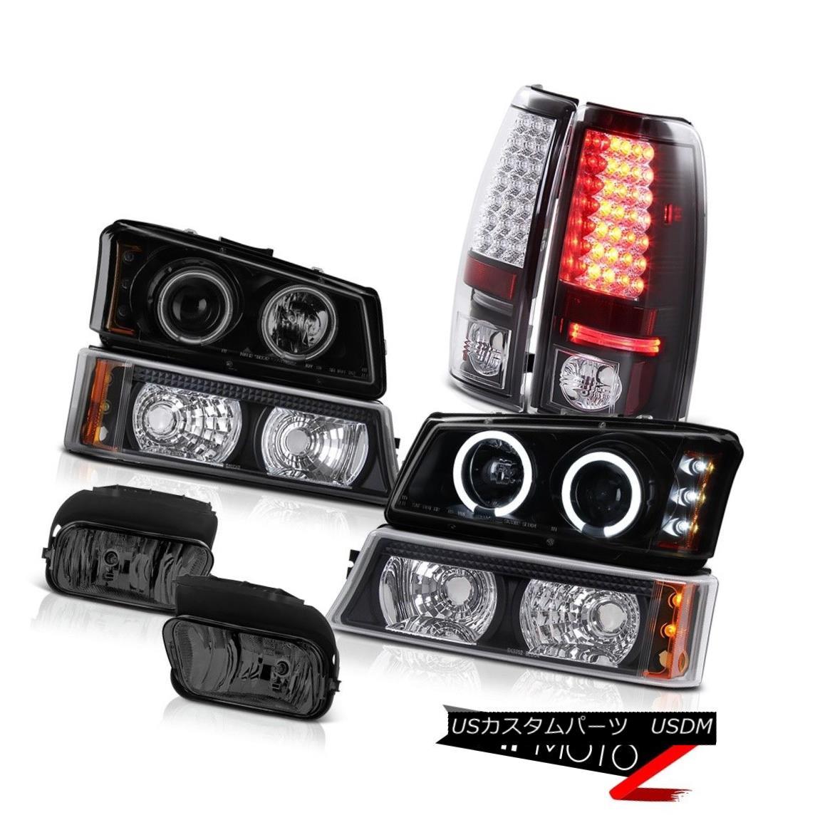 テールライト 03-06 Silverado 1500HD Projector Headlight Matte Black Signal Tail Light Foglamp 03-06 Silverado 1500HDプロジェクターヘッドライトマットブラック信号テールライトフォグライト