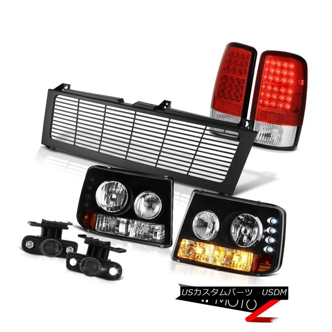 テールライト 00-06 Tahoe LT Black Parking Headlights LED Taillamps Projector Foglights Grille 00-06タホLTブラックパーキングヘッドライトLEDテールランププロジェクターフォグライティンググリル