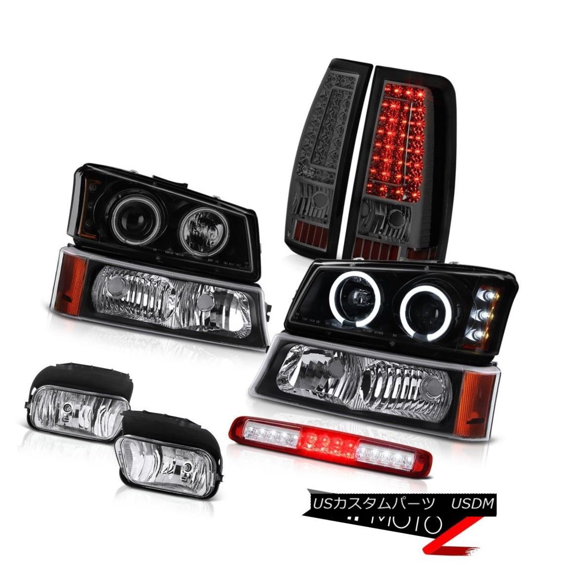 テールライト 03-06 Silverado 1500 High Stop Lamp Fog Lights Tail Black Parking Headlamps SMD 03-06 Silverado 1500ハイストップランプフォグライトテールブラックパーキングヘッドランプSMD