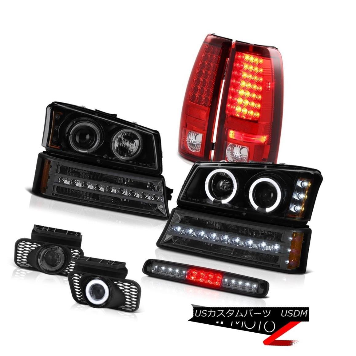 テールライト 03-06 Silverado Smoked 3RD Brake Light Foglights Signal Headlights Taillights 03-06シルバラードスモーク3RDブレーキライトフォグライト信号ヘッドライトテールライト