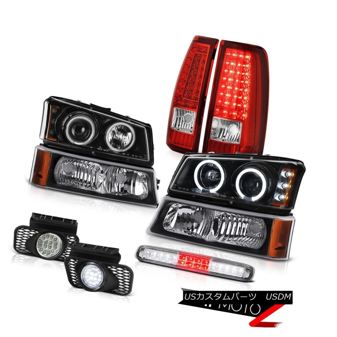 テールライト 2003-2006 Silverado 3RD Brake Light Fog Lights Red Tail Lamps Parking Headlamps 2003-2006 Silverado 3RDブレーキライトフォグライトレッドテールランプパーキングヘッドランプ