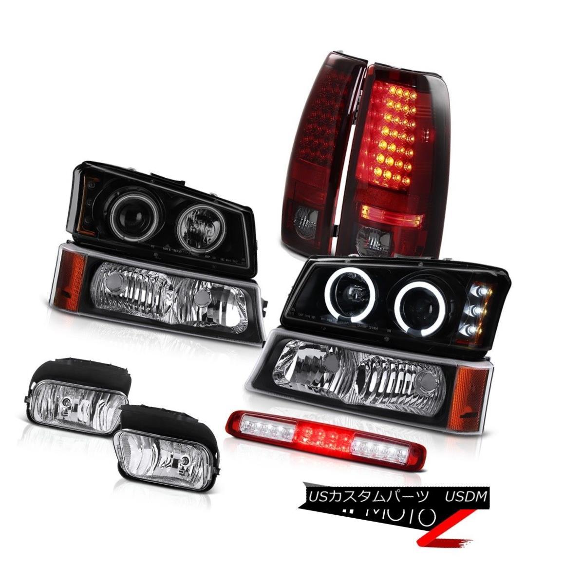 テールライト 03-06 Silverado Foglamps Signal Lamp Roof Cab Headlights Smokey Red Tail Lamps 03-06 Silveradoフォグランプ信号ランプ屋根キャブヘッドライトスモークテールランプ