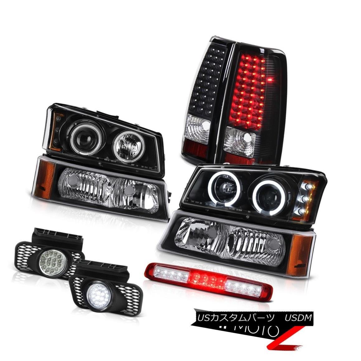 テールライト 03-06 Silverado Inky Black Bumper Light 3RD Brake Foglights Headlamps Taillamps 03-06 Silverado Inkyブラックバンパーライト3RDブレーキフォグライトヘッドランプタイルランプ