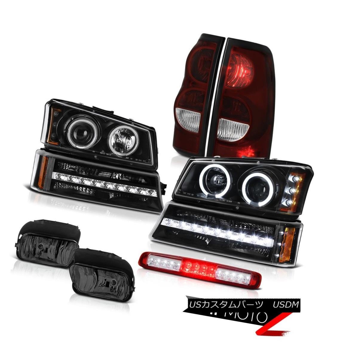 テールライト 03-06 Chevy Silverado Wine Red Roof Cargo Light Fog Lights Tail Bumper Headlamps 03-06 Chevy Silveradoワインレッドルーフカーゴライトフォグライトテールバンパーヘッドランプ