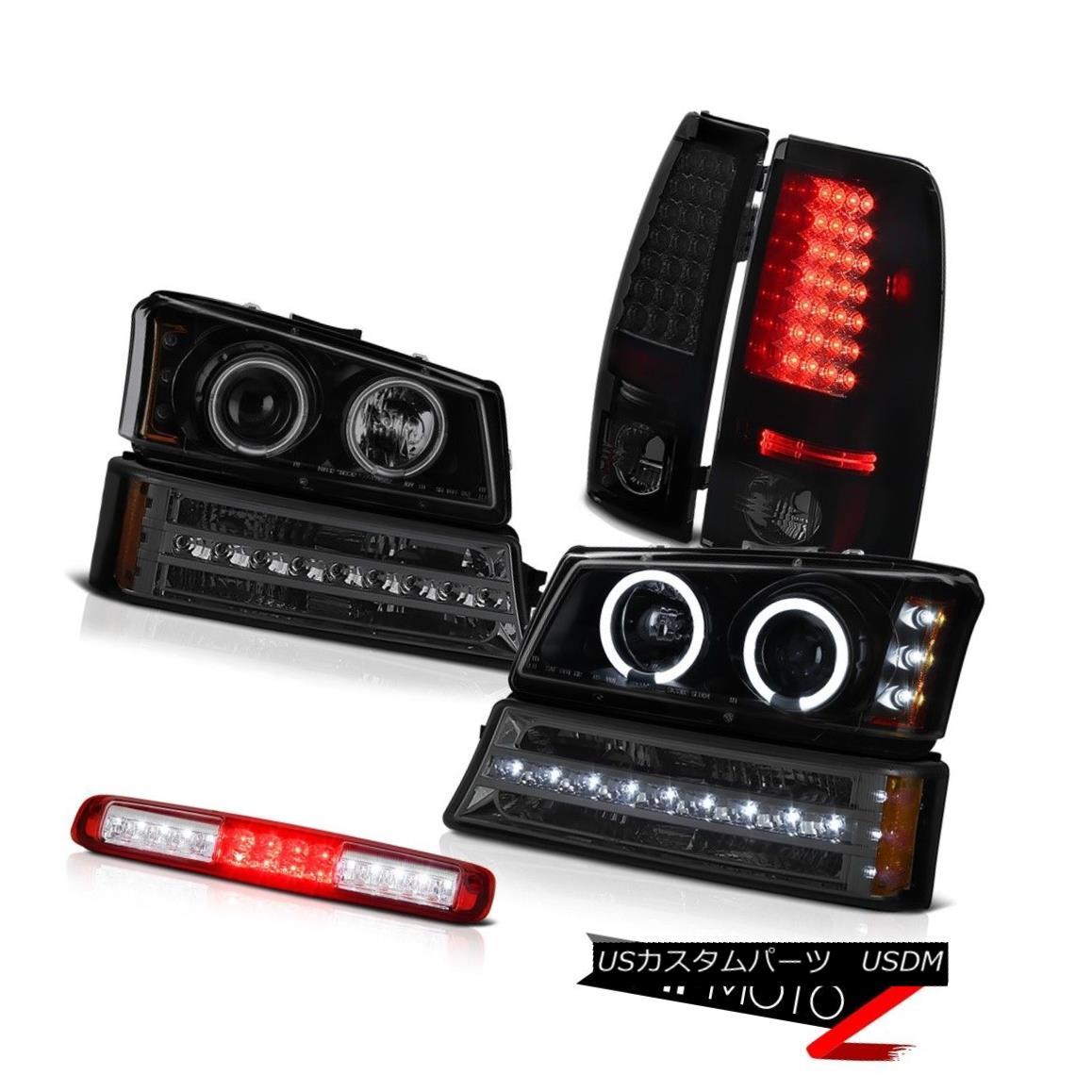 テールライト 03-06 Silverado Red Clear High Stop Lamp Turn Signal Headlamps Tail Lights SMD 03-06 Silverado赤クリアハイストップランプターンシグナルヘッドランプテールライトSMD