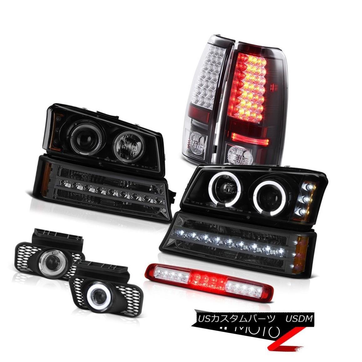 テールライト 03-06 Silverado Red Third Brake Light Foglamps Turn Signal Headlamps Taillights 03-06 Silverado Red Thirdブレーキライトフォグランプターンシグナルヘッドランプターンライト
