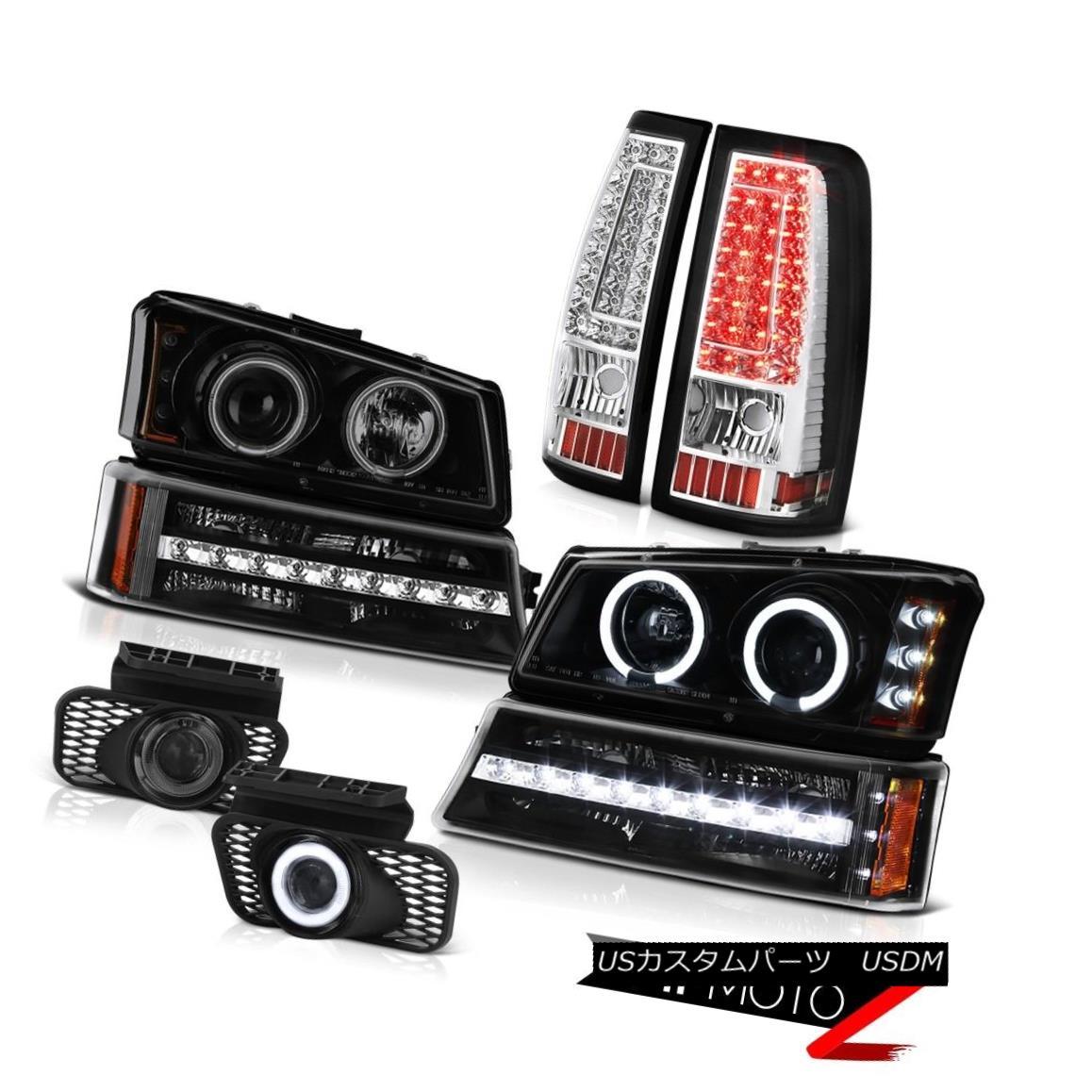 テールライト 03-06 Silverado 3500Hd Foglamps Taillamps Inky Black Turn Signal Headlights LED 03-06 Silverado 3500Hd Foglamps Taillamps Inky Black TurnシグナルヘッドライトLED