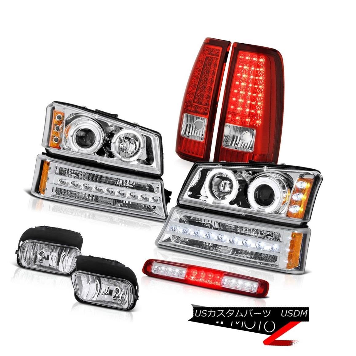 テールライト 03-06 Silverado Rosso Red 3RD Brake Lamp Fog Lights Taillamps Parking Headlights 03-06 Silverado Rosso Red 3RDブレーキランプフォグライトタイルランプパーキングヘッドライト