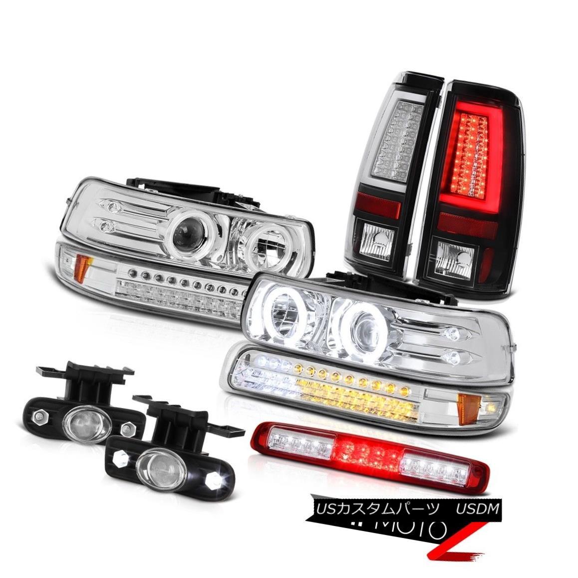 テールライト 99-02 Silverado 3500 Tail Lights Signal Light Headlamps Roof Cab Fog Lamps LED 99-02 Silverado 3500テールライトシグナルライトヘッドランプルーフキャブフォグランプLED