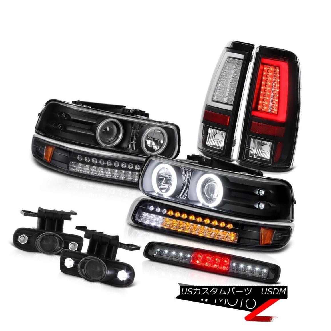 テールライト 99-02 Silverado 3500HD Tail Lights Roof Cab Lamp Fog Bumper Headlamps CCFL Ring 99-02 Silverado 3500HDテールライトルーフキャブランプフォグバンパーヘッドランプCCFLリング