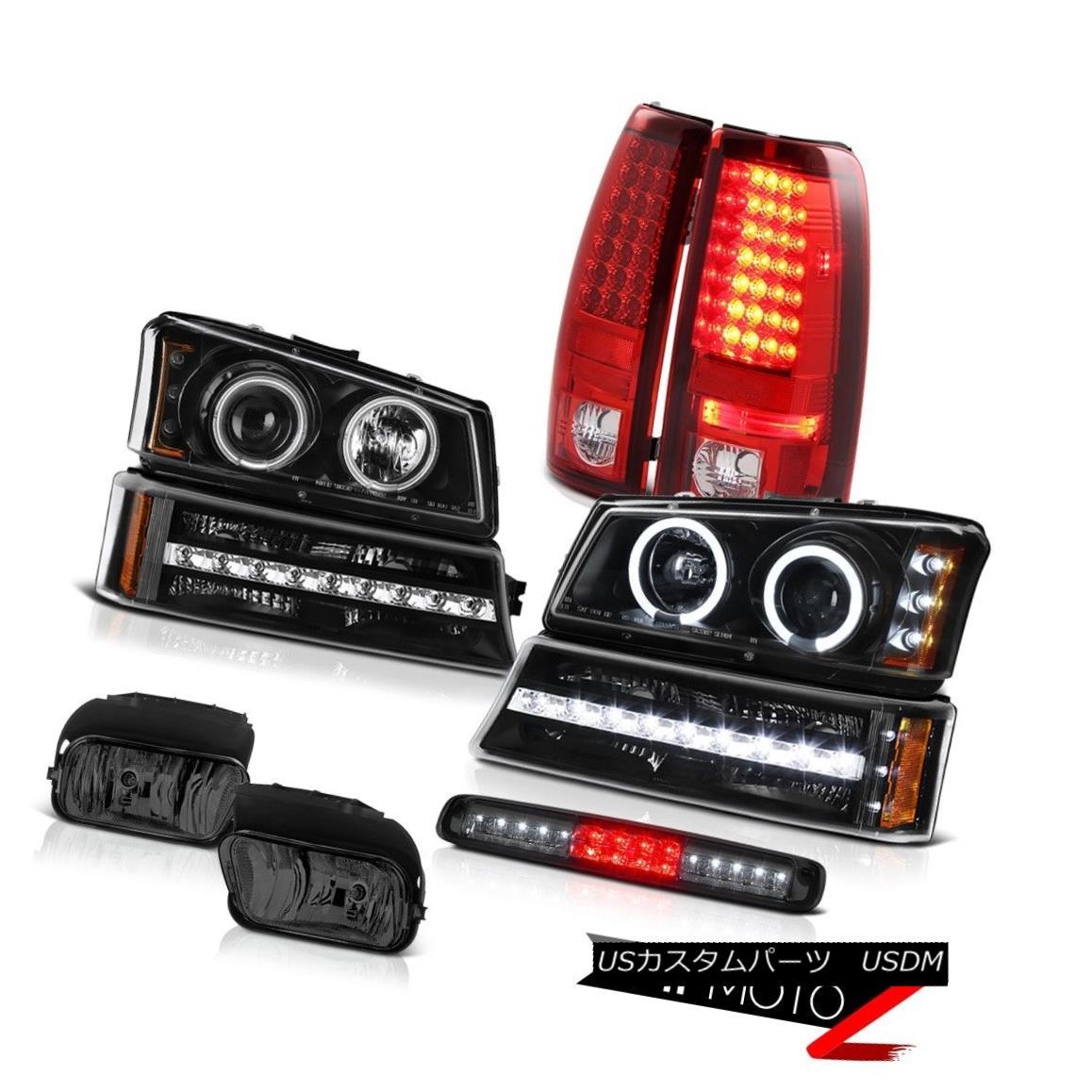 テールライト 03-06 Chevy Silverado Foglamps Roof Brake Lamp Black Bumper Headlamps Rear Lamps 03-06 Chevy Silverado Foglampsルーフブレーキランプブラックバンパーヘッドランプリアランプ
