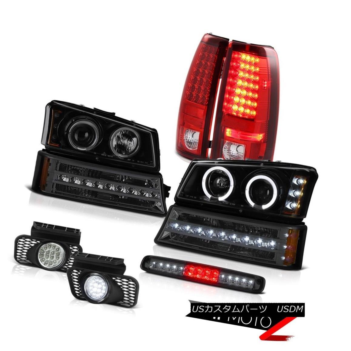テールライト 03-06 Silverado Smokey Roof Brake Light Foglights Parking Lamp Headlamps Lights 03-06シルバラドスモーキールーフブレーキライトフォグライトパーキングランプヘッドランプライト