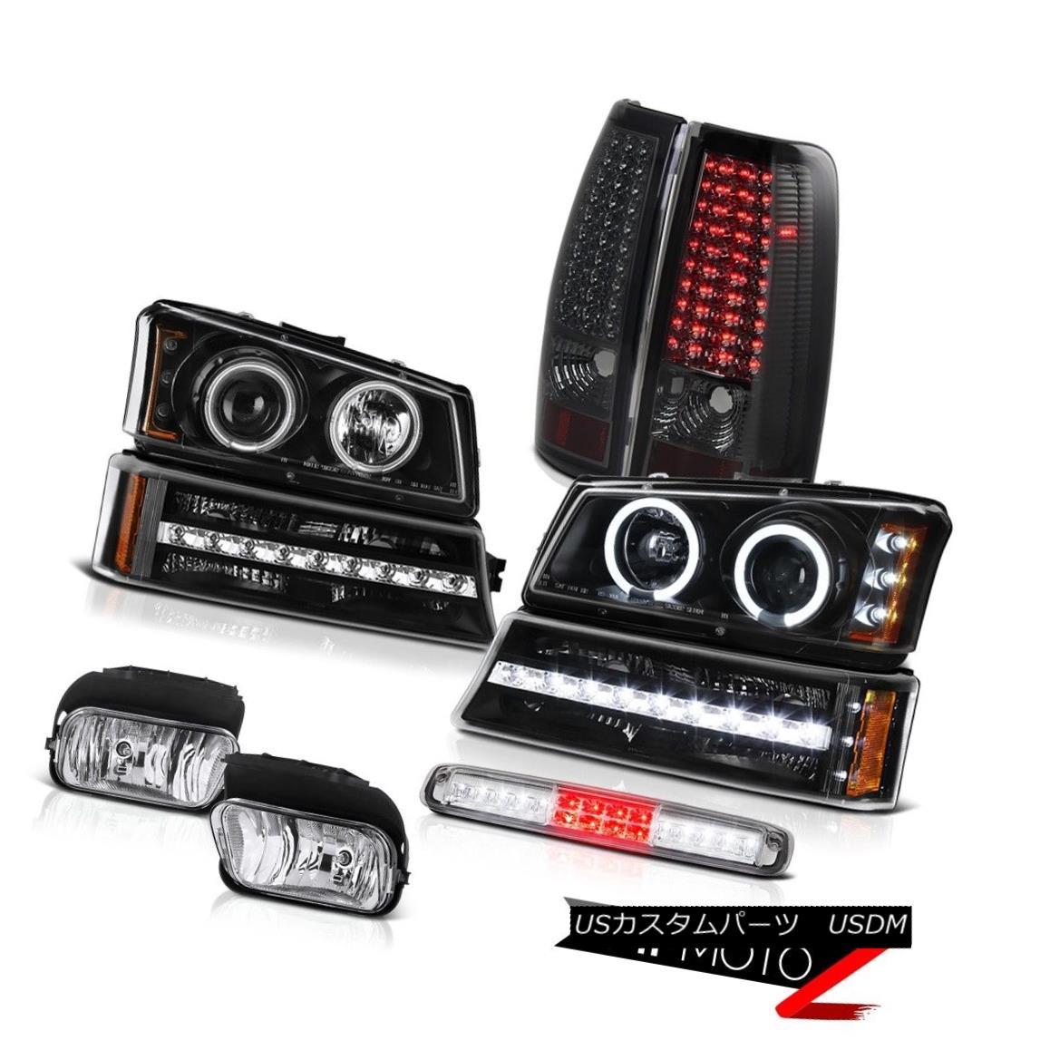 テールライト 03-06 Silverado Fog Lights Roof Brake Lamp Black Turn Signal Headlights Tail 03-06 Silveradoフォグライトルーフブレーキランプブラックターンシグナルヘッドライトテール