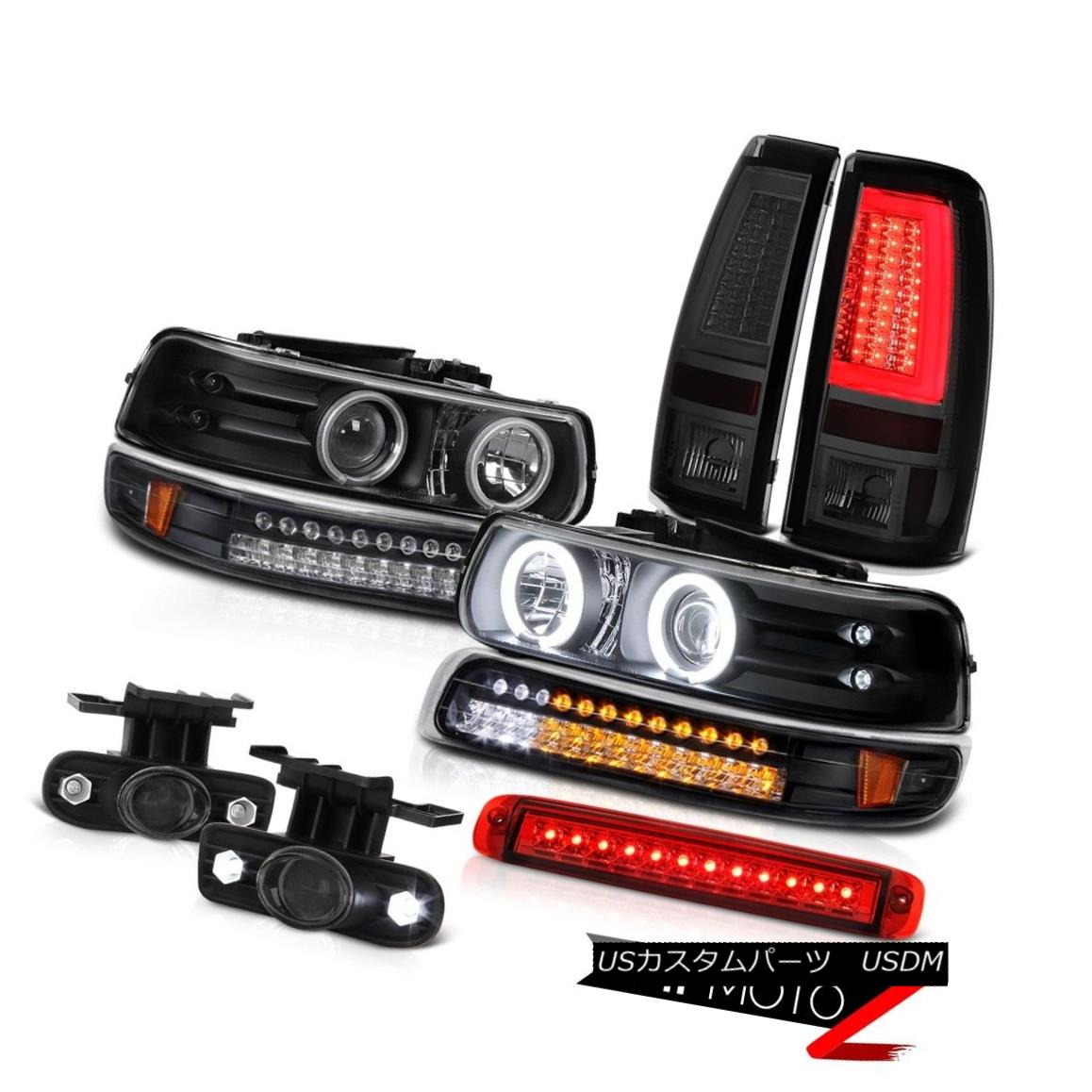 テールライト 99-02 Silverado 6.0L Taillights 3rd Brake Light Foglamps Signal Headlamps LED 99-02 Silverado 6.0Lテールライト第3ブレーキライトフォグランプ信号ヘッドランプLED