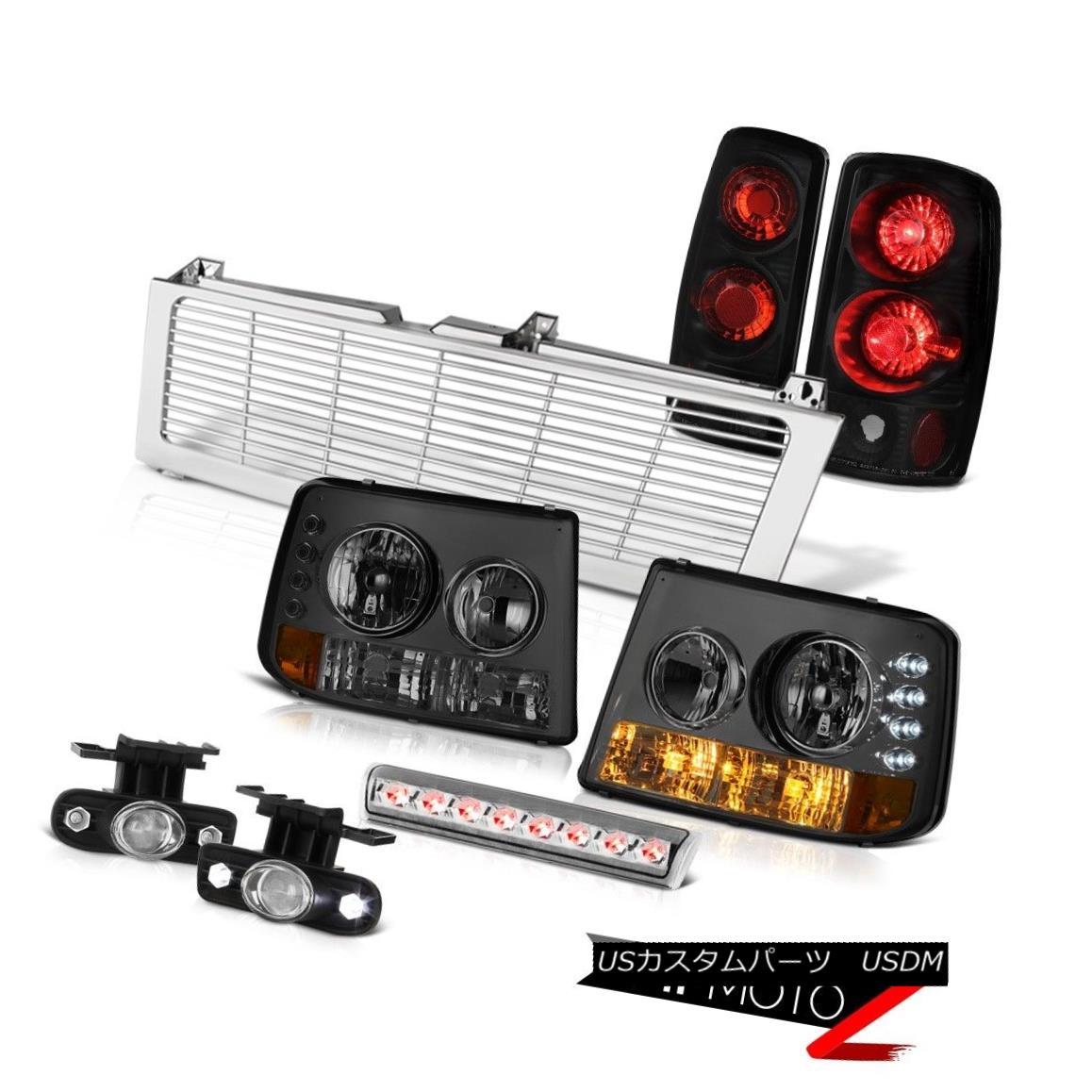 テールライト Smoke Headlamps Rear Signal Brake Lights Glass Fog High LED 00-06 Suburban 2500 スモークヘッドランプリアシグナルブレーキライトグラスフォグハイLED 00-06郊外2500