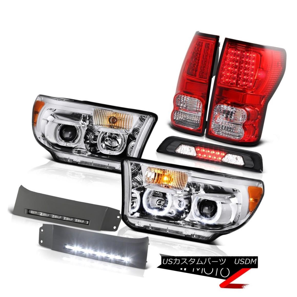 テールライト 2007-2013 Toyota Tundra SR5 Headlamps DRL Strip Roof Cab Light Rear Brake Lamps 2007-2013トヨタトンドラSR5ヘッドランプDRLストリップルーフキャブライトリアブレーキランプ
