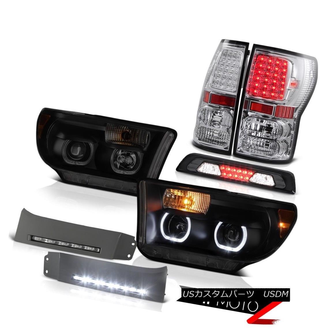 テールライト 07-13 Toyota Tundra Limited Headlights Bumper DRL Smoked Roof Cab Lamp Taillamps 07-13トヨタ・トンドラ・リミテッドヘッドライトバンパーDRLスモークルーフキャブ・ランプ・タイルランプ