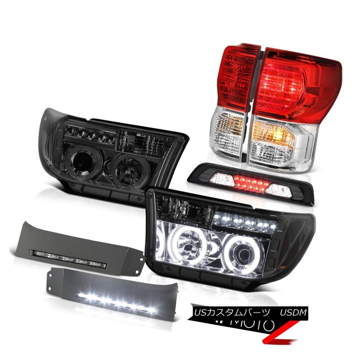 テールライト 07-13 Toyota Tundra SR5 DRL Strip Roof Cab Light Red Taillights Headlamps Cool 07-13トヨタトンドラSR5 DRLストリップルーフキャブライトレッドテールライトヘッドランプクール