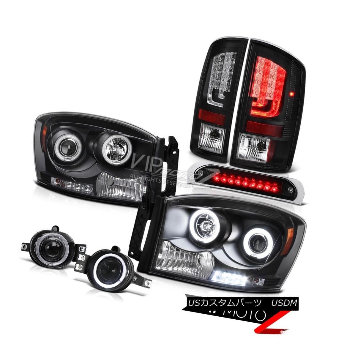 テールライト 07-09 Dodge Ram 2500 3500 5.9L Taillamps 3RD Brake Light Headlamps Foglamps Cool 07-09ダッジラム2500 3500 5.9Lタイルランプ3RDブレーキライトヘッドランプフォグランプクール