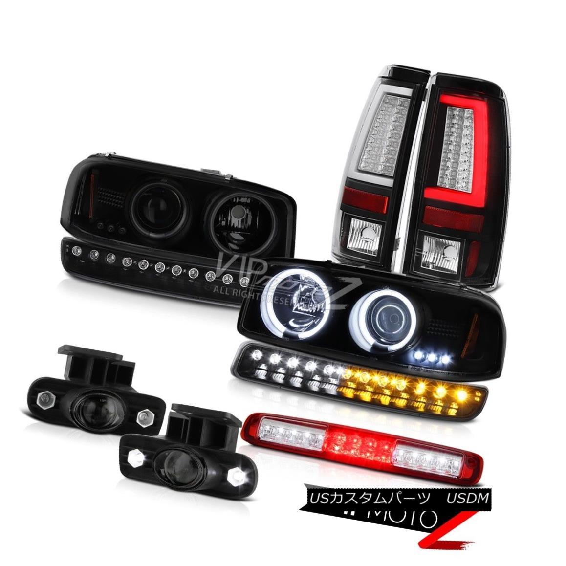 テールライト 99-02 Sierra 6.0L Tail Lamps 3RD Brake Lamp Bumper Foglamps Headlamps Halo Ring 99-02 Sierra 6.0Lテールランプ3RDブレーキランプバンパーフォグランプヘッドランプハローリング